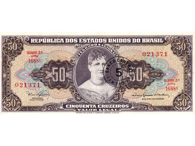 5 Centavos (carimbada) - 1